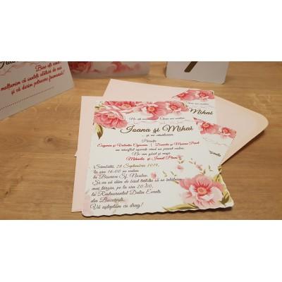 Invitatii nunta bujori