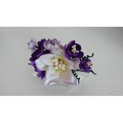 Floare de par handmade, lila