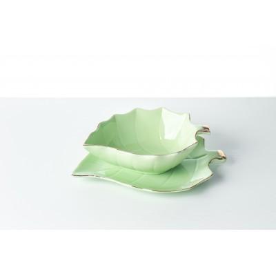 Fructiera ceramica verde,...